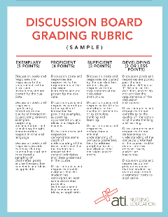 DISCUSSION GRADING RUBRIC (SAMPLE)